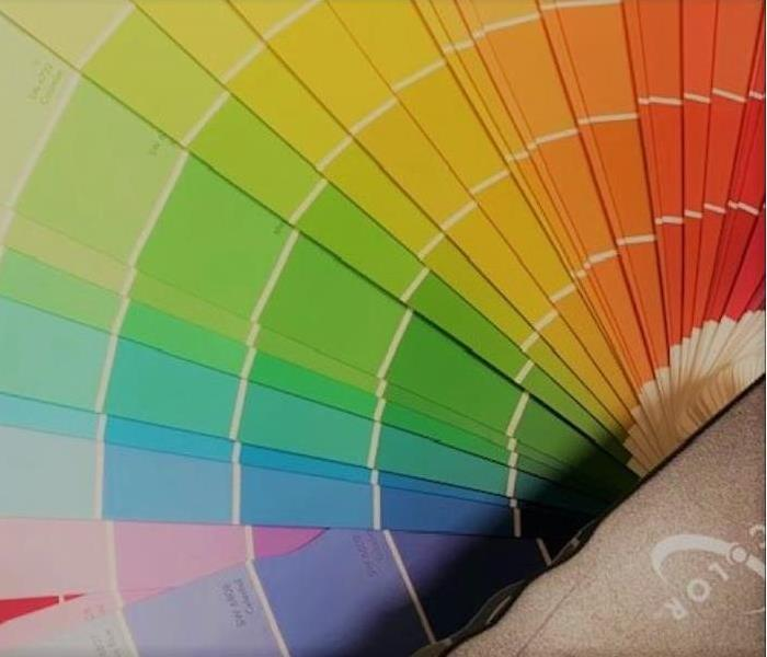 Picture of paint color selector wheel-all colors blues, yellows, reds,