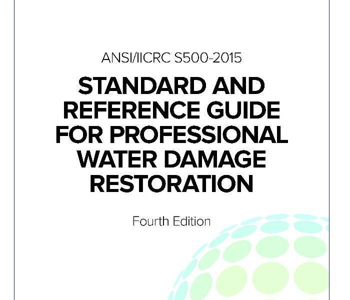Cover of text book, script Standard and reference guide for professional water damage restoration