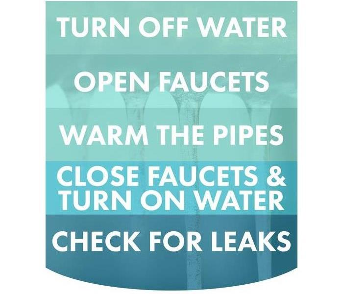 Tips to avoid frozen pipes
